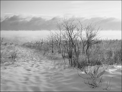 Lake Superior January Morning (jkrumm) Tags: winter snow ice beach clouds dunes duluth lakesuperior parkpoint