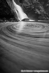 Devil's Coils (J. G. Coleman Photography) Tags: bw water rock blackwhite waterfall connecticut newengland whirlpool foam easthaddam devilshopyardstatepark chapmanfalls