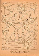 Space Ghost Coloring Book Page 1 (Whitman 1967) (Donald Deveau) Tags: cartoon spaceghost tvshow monsters coloringbook hannabarbera 1960stv