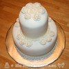 Elegant White Bridal Shower Cake