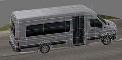 Freightliner Sprinter minibus 3500 (paperscan) Tags: roof mercedes high airport cab cargo shuttle delivery commuter service van daimler minibus 3500 sprinter freightliner 2015 passeger