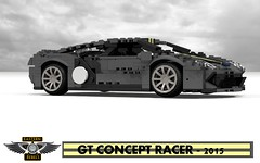 GT Concept Racer - 2015 (Eastern Rebels Custom) (lego911) Tags: auto show two black ford car yellow model lego render detroit stripe eat turbo motor gt carbon custom eastern coupe tale supercar challenge rivals 87 cad sportscar naias lugnuts v6 rebels povray moc darkgray ldd 2015 miniland darkgrey midengine ecoboost gtdi lego911 ataleoftworivals