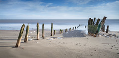 Groynes - Spurn Head (Draws_With_Light) Tags: winter sea beach water season landscape seaside structures places scene coastline filters groynes spurnhead lee09ndhardgrad leebigstopper