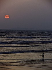 Sunset, Karachi beach (razaanees) Tags: sunset beach karachi seaocean