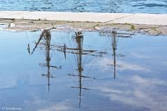 Sottosopra :-) (boisderose) Tags: puddle marinamilitare may tallship trieste maggio 2016 veliero pozzanghera amerigovespucci navescuola schoolship boisderose