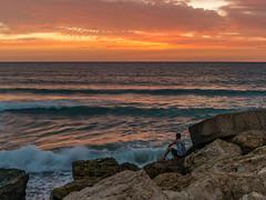 The End. (ozzios) Tags: sunset sea nature harbor israel telaviv rocks il telavivyafo telavivdistrict