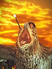 Gandalf (DASEye) Tags: newzealand sculpture texture airport eagle wand ceiling textures lotr nz wellington gandalf lordoftherings hobbit tweaked thehobbit iphone wellingtonairport davidadamson daseye