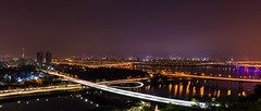 Seoul (Younghoon Jun) Tags: city longexposure mountain night canon eos seoul ef hanriver  cinemascope 1635mm 5ds  eungbong