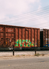 MTA (Electric Funeral) Tags: graff graffiti paint aerosol art freight train traincar freighttraingraffiti railway railroad railcar benching benched freighttrain rollingstock fr8train fr8heaven canon 5d digital photography boxcar mta socal oc anaheim freightcar