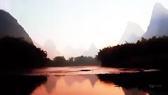 IMG_0175~Yangtze (Cyberlens 40D) Tags: china rivers yangtze scenery reflections canon fog mountains twilight platinumheartawards