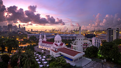 Sunrise from Church of Saint Teresa, Singapore (gintks) Tags: landscapes singapore cityscapes bluehour goodmorning singapur darkclouds exploresingapore singaporetourismboard yoursingapore gintks gintaygintks