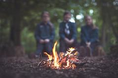 Firestarters. (Matt_Briston) Tags: park fire woods 1st sophie ella scouts mollie sheringham magna melton