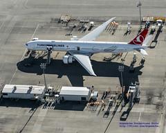 A New Turkish Airlines Boeing 777-300ER From the Air (AvgeekJoe) Tags: usa washington nikon aerial aerialphoto dslr washingtonstate aerialphotography aerialphotograph painefield kpae importedkeywordtags d5300 nikond5300 tclji