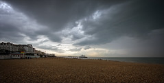 Impending Storm . (insomniac2008 .) Tags: elements storm eastbourne eastsussex coast sea beach pier weather thunderstorm severeweather