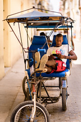 Time to Relax (k.jessen) Tags: bicycle relax taxi havana cuba bicitaxi