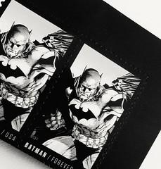 BATMAN...FOREVER (williamw60640) Tags: blackandwhite art robin comics mask stamps bat hero superhero batman dccomics brucelee capedcrusader jimlee bobkane stampart nealadams comicbookhero batbelt maskedfigure foreverstamps dicksprang