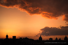Sunset over Rome (Alessandro Argentieri) Tags: travel sunset italy rome roma clouds warm italia tramonto cloudscape