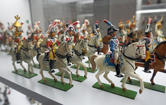 Mounted officers on parade - Musee de l'Armee, Paris (Monceau) Tags: horses paris military parade mounted toysoldiers officers musedelarme tinsoldiers modelsoldiers
