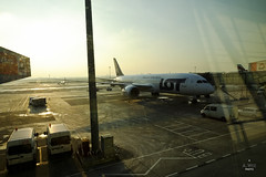 LOT 787 Dreamliner (A. Wee) Tags: sunset airport lot poland warsaw chopin boeing  787  dreamliner  lotpolish