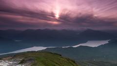 Sun Dog on Ben Lomond (ross_vernal (Scottish Dream Photography)) Tags: sunset mountain mountains canon evening walk atmosphere hike benlomond sundog phenomena munro eos70d
