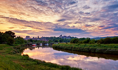 Arundel Sunset (Langstone Joe) Tags: sunset clouds landscape boats cows cathedral westsussex arundel arundelcastle riverarun southdows