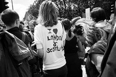 March for Europe, London, 2nd July 2016 (fabiolug) Tags: street leica uk people blackandwhite bw woman color london monochrome march blackwhite europe candid politics voigtlander rally streetphotography eu tshirt parliament rangefinder wideangle monochrom parklane remain biancoenero 25mm skopar londonist leicam voigtlander25mmf4 25mmcolorskopar voigtlander25mm voigtlander25mmf4colorskopar mmonochrom leicammonochrom leicamonochrom voigtlander25mmcolorskoparf4 brexit marchforeurope nobrexit article50