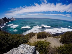 Good day to be alive, Sir (asliakal) Tags: coast california bigsur hwy1 pch ocean gopro sky clouds