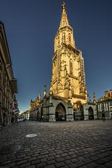 Berne Cathedral in golden sunlight (Steven-ch) Tags: catherdral bern schweiz eos6d gold switzerland sundown sunlight canon münster capital berne ch hdr light ef1124mm