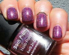 BornPretty holo polish #24 (Simona - www.lightyournails.com) Tags: esmalte smalto vernis manicure unghie nails nagellack nailpolish naillacquer nailswatch holographic purple bornprettystore