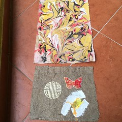 Hector's paper art made in Argentina (Haiti Partners) Tags: haiti adeca childrensacademy june 2016 entrepreneurship papermaking