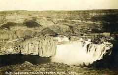 [IDAHO-B-0158] Snake River - Shoshone Falls (waterarchives) Tags: idaho snakeriver river realphotopostcardrppc shoshonefalls falls powerhouse hydropower