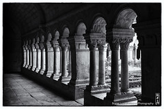 cloister (alamond) Tags: blackandwhite bw france monochrome abbey canon gallery arcade monastery 7d l cloister usm provence ef f4 1740 mkii markii brane llens alamond snanqueabbey claustrum zalar