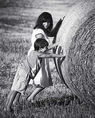 Funny (ivano2404) Tags: blackandwhite bnw bw loving love family two funny summer