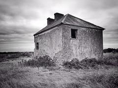 Bleak House (JulieK (finally moved to Wexford)) Tags: monochrome bw iphone5 derelict walls hww ireland irish rural field