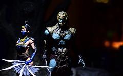 Kitana and Kahn II (TaglessKaiju) Tags: action figure mortalkombat x toy photography mezco arena battle warriors