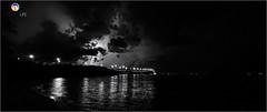Florida Life: Lightning Crashes (Thncher Photography) Tags: sony a7r2 fe 1635mm f4 za ossfxfull framelong exposurebwblack whitemonochromesceniclandscapewaterscapeskycloudsstormlightningreflectionsbridgepalm citystuartmartin countyfloridasoutheast florida indianriver oceanboulevard sonya7r2 zeiss