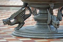 Germany-00043 - Baptismal Font (archer10 (Dennis) 83M Views) Tags: germany berlin building sony a6300 ilce6300 18200mm 1650mm mirrorless free freepicture archer10 dennis jarvis dennisgjarvis dennisjarvis iamcanadian novascotia canada stmarys church baptismal font dragons globus tour