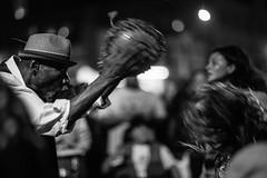 shekere rhythms (heavysoulclick) Tags: camera classic 5d canon friday first festival rhythms shekere lights bokeh night hat basker street streetphotography noir bw blackandwhite