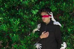 Blinding (gusvasquezphotography7) Tags: selfportrait blind red green hands art darkart black outdoor