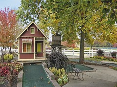 Train Station at Westerville Mini-Golf (~ Liberty Images) Tags: autumn fall fun trainstation centralohio libertyimages westervilleminigolf westervillegolfcenter