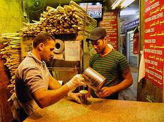 Zuckerrohr Stand in Amman