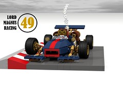 Lord Magnus Racing - #49 (lego911) Tags: auto classic car race model lego lotus cosplay render f1 lord racing 49 scifi formula 86 magnus challenge genre cad racer lugnuts povray steampunk moc ldd miniland lego911 steampunkmotorworks