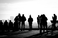Silhouettes (Ludovic Enkler) Tags: people london silhouette blackwhite highkey primrosehill