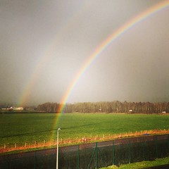 Double rainbow in the field by us. #rainbow #doublerainbow (Stu Worrall Photography) Tags: square squareformat mayfair iphoneography instagramapp uploaded:by=instagram