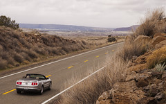 Cruisin on Route 66 (jeffgauld) Tags: road arizona ford route66 highway convertible mustang fordmustang