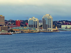 Halifax waterfront (Yvon from Ottawa) Tags: cruise marriott buildings hotel novascotia waterfront harbour casino cruiseship harbourfront halifax purdy officetower queenmary2 purdyswharf