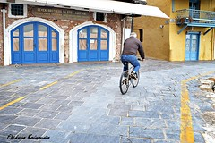 Rethymno street (Eleanna Kounoupa) Tags: street bicycle doors greece crete oldport oldtown traditionalarchitecture rethymnon     hccity     stphotographia