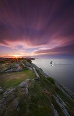 FUGAZ (Dream Photography by margamorqui) Tags: sunset sea paisajes clouds landscape mar asturias nubes llanes acantilado atardeder paseodesanpedro bigstoper filtrosdensidadneutra filtrobigstoper
