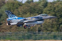 F-16C Hellenic Air Force Zeus Solo Display (Spotterforlife) Tags: peer flanders belgien 2014 kleinebrogel ebbl belgianairforcedays