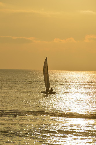 ocean sunset sea sun west water sussex boat worthing image free east boating seafront yatch freeimage